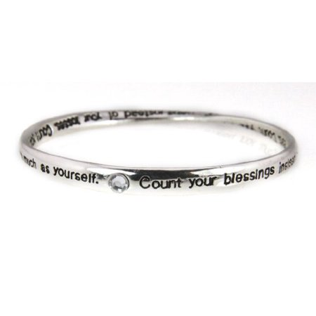 Count Your Blessings Bangle Bracelet Jewelry Religious