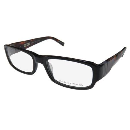 a5b0ba32f9 New John Varvatos V341 Mens Designer Full-Rim Black   Tortoise High Quality  Made In Japan Frame Demo Lenses 53-18-140 Flexible Hinges Eyeglasses Eyeglass  ...