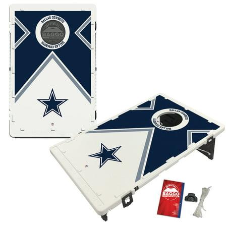 Dallas Cowboys 2' x 3' BAGGO Vintage Cornhole Board Tailgate Toss Set Dallas Cowboys Tailgate Table