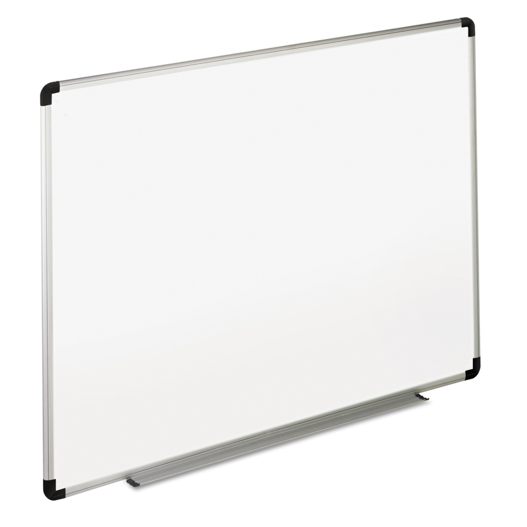 Dry Erase Board, Melamine, 36 x 24, White, Black Gray Aluminum Plastic Frame -UNV43723 by Universal Office Products