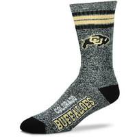 Colorado Buffaloes For Bare Feet Got Marbled Crew Socks - Gray