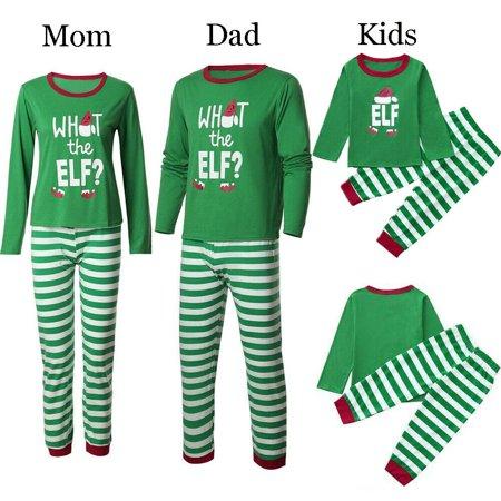Kids Elf Pajamas (Family Matching Christmas Sleepwear Women Men Kids Xmas Elf Nightwear)