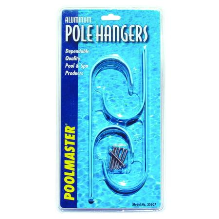 Poolmaster Aluminum Swimming Pool Pole Hangers, Blue