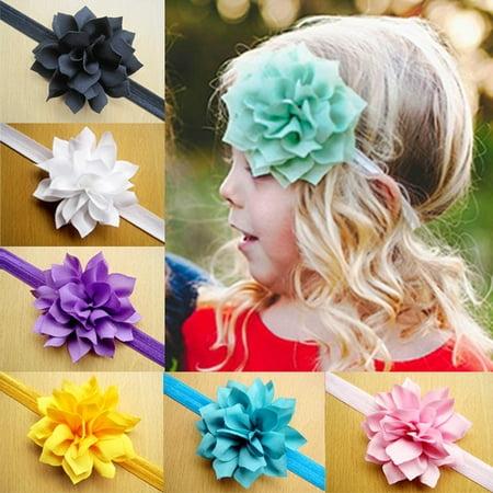Universal e business llc 10pcs baby girls lotus flower toddler 10pcs baby girls lotus flower toddler hair band headbands child headwear mightylinksfo