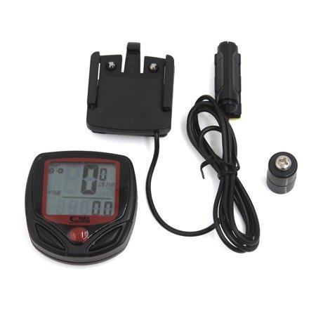 Black Waterproof Cycling LCD Bicycle Odometer Bike Stopwatch Speedometer