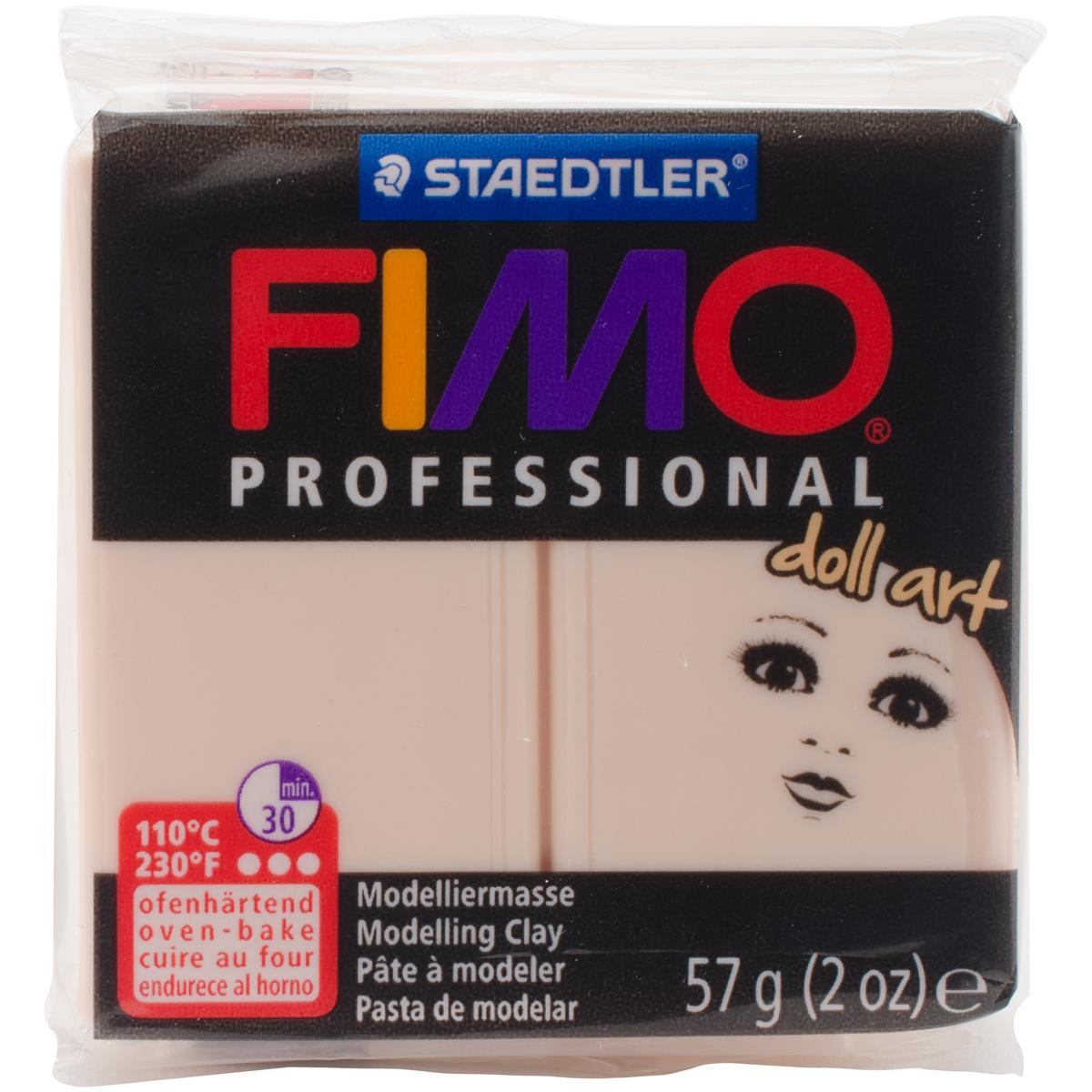 Fimo Professional Doll Art Clay 2oz-Opaque Cameo