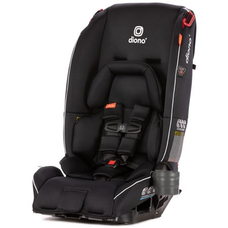 Diono Radian 3 RX All-in-One Convertible Car Seat - Extended Rear-facing 5-45 lbs., Forward-facing to 65 lbs., Booster to 120 lbs.; The Original 3 Across; (Facing Seat)