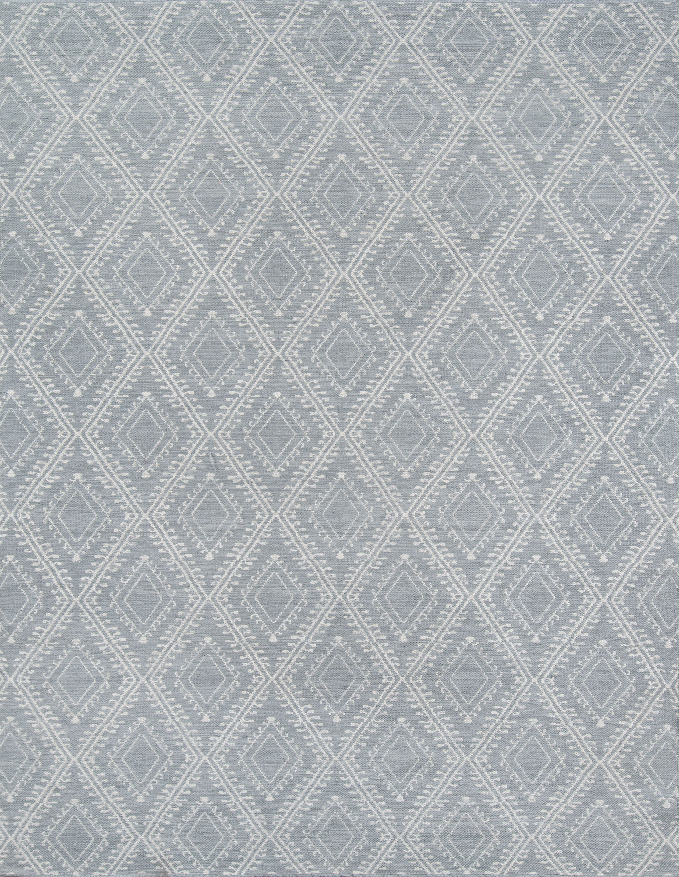Erin Gates by Momeni Easton Pleasant Grey Indoor Outdoor Hand Woven Area Rug 2' X 3' by Momeni