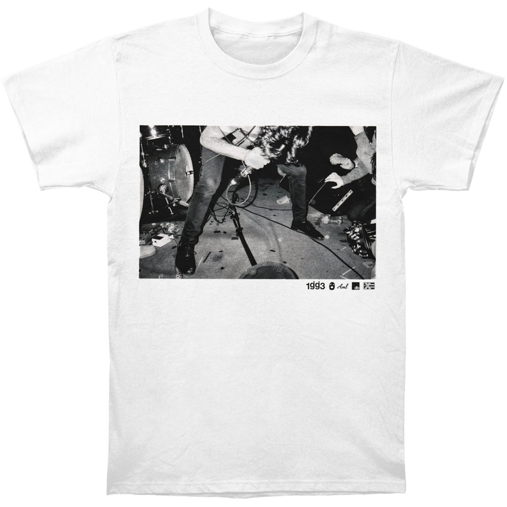 Glassjaw Men's  BW Live Photo T-shirt Blue