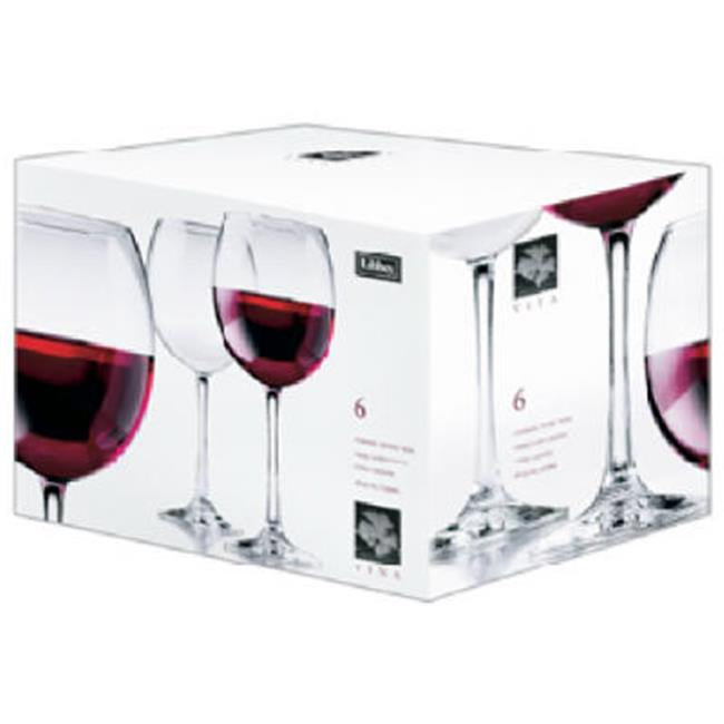 Libbey Glass 89389 18.25 oz. Vina Round Wine Goblet Set, 6 Piece