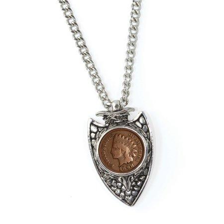 American Coin Treasures Men's Indian Cent Arrowhead Pendant