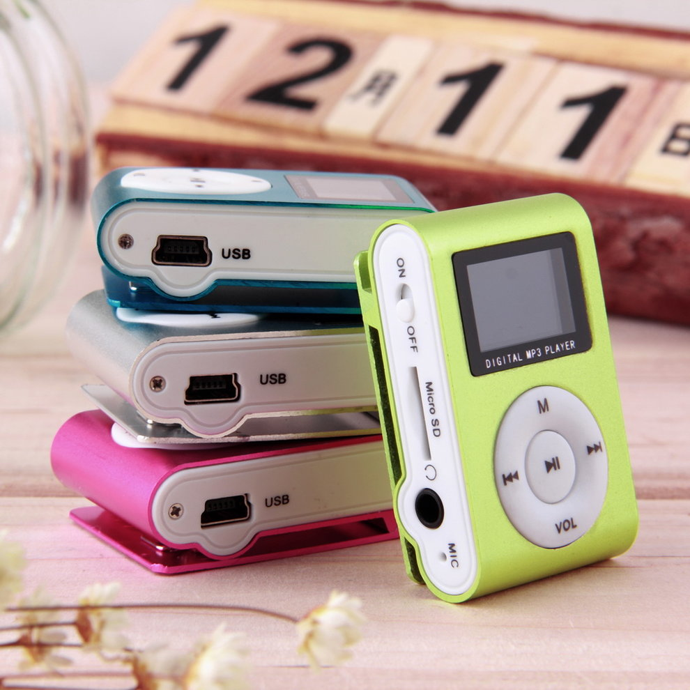 Hot Selling Portable Metal Clip MP3 Music Player Mini Media Music Player