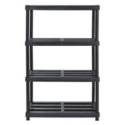 "Juggernaut Storage 36""W x 24""D x 56""H 4-Shelf Resin Shelving, 600 lb Capacity Black"