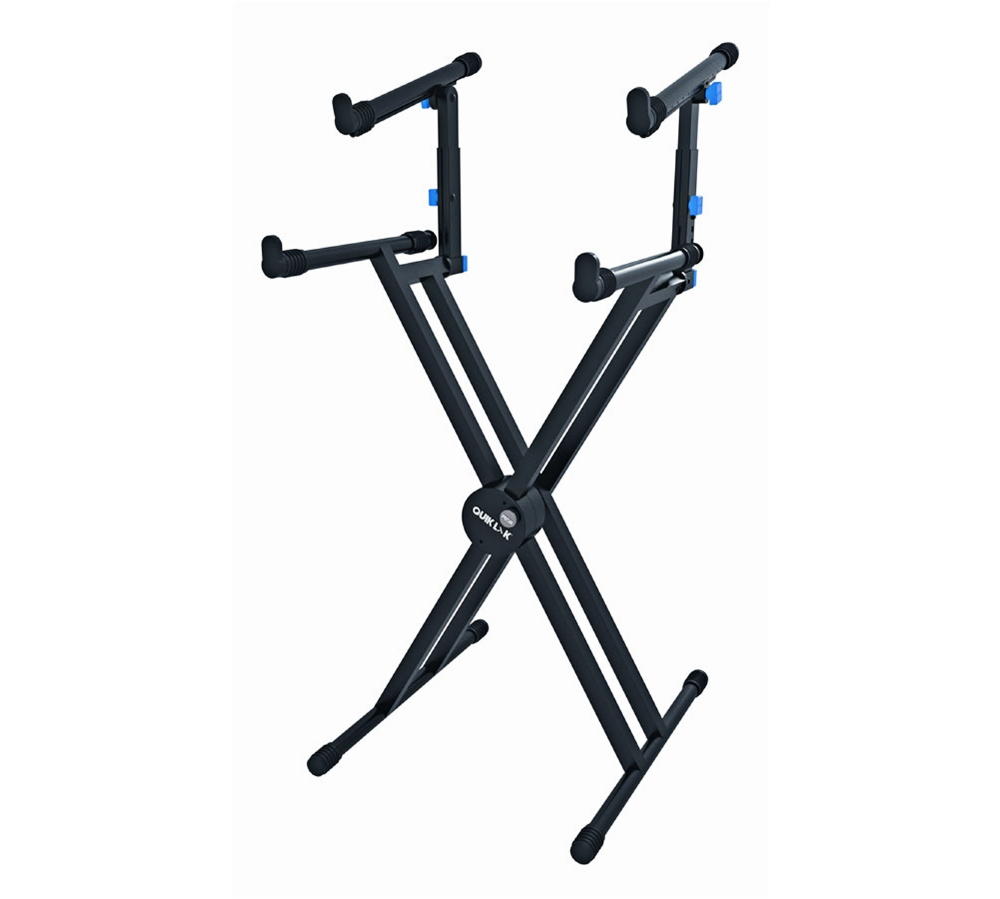 Quik-Lok Double-Tier Double-Braced Keyboard Stand by Quik-Lok