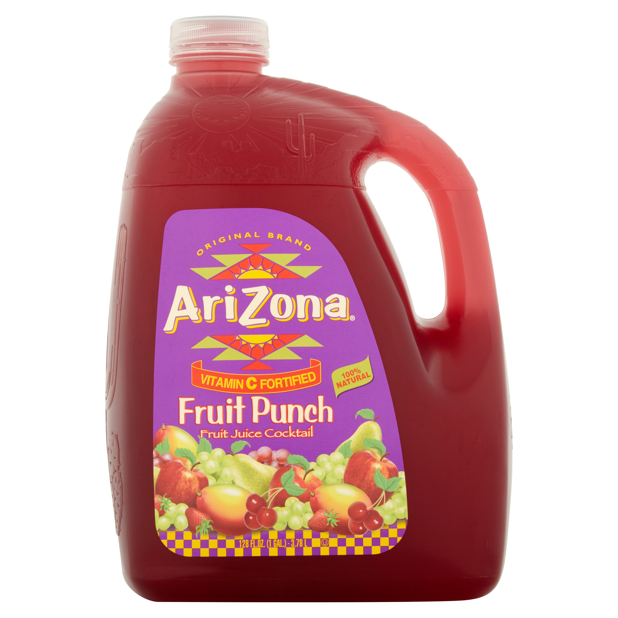 Arizona Juice Cocktail, Fruit Punch, 128 Fl Oz, 1 Count