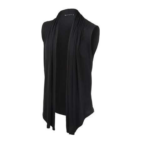 e282b475e20 Unique Bargains Men's Lightweight Shawl Collar Open Front Sleeveless Long  Cardigan Vest