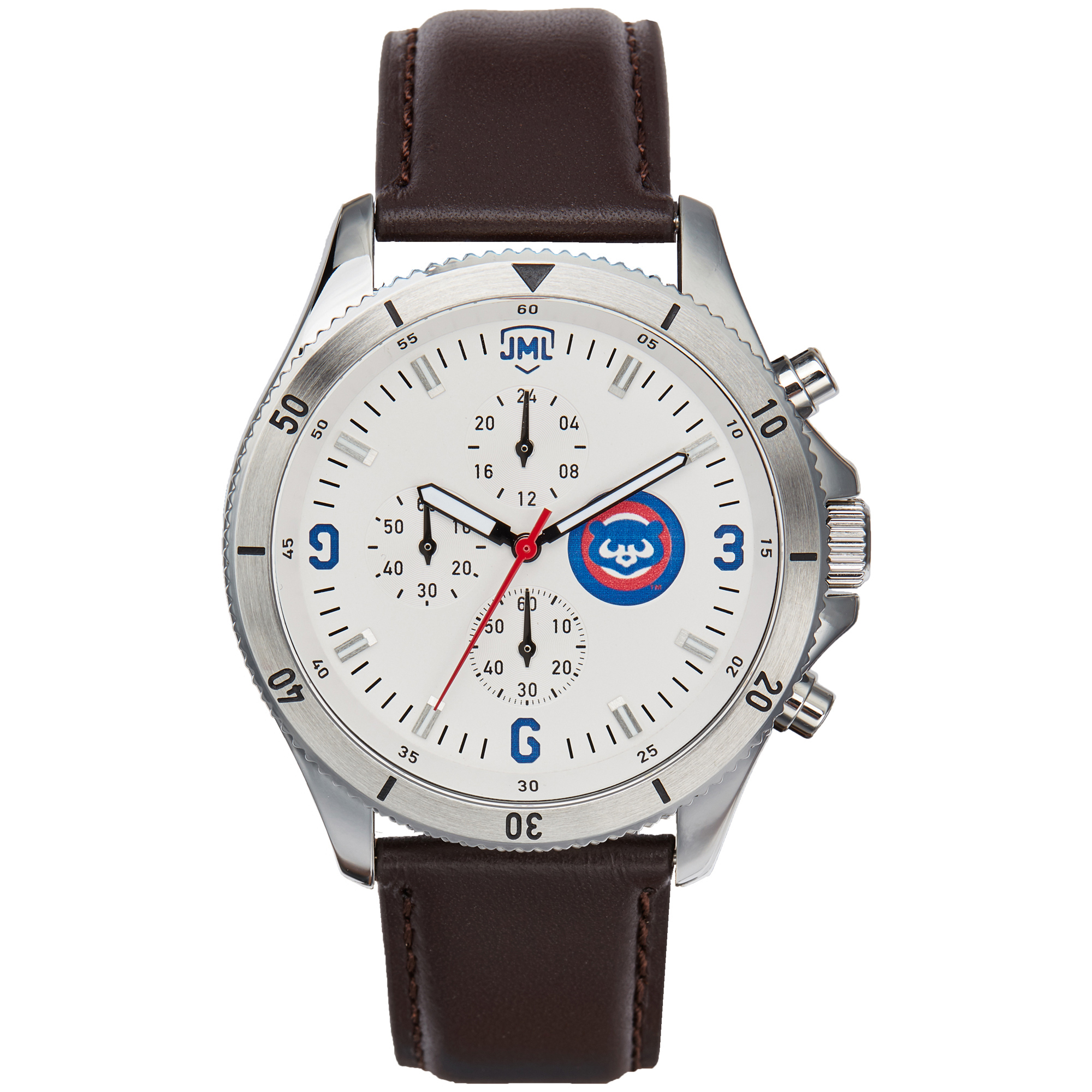 Chicago Cubs Chronograph with Brown Leather - No Size