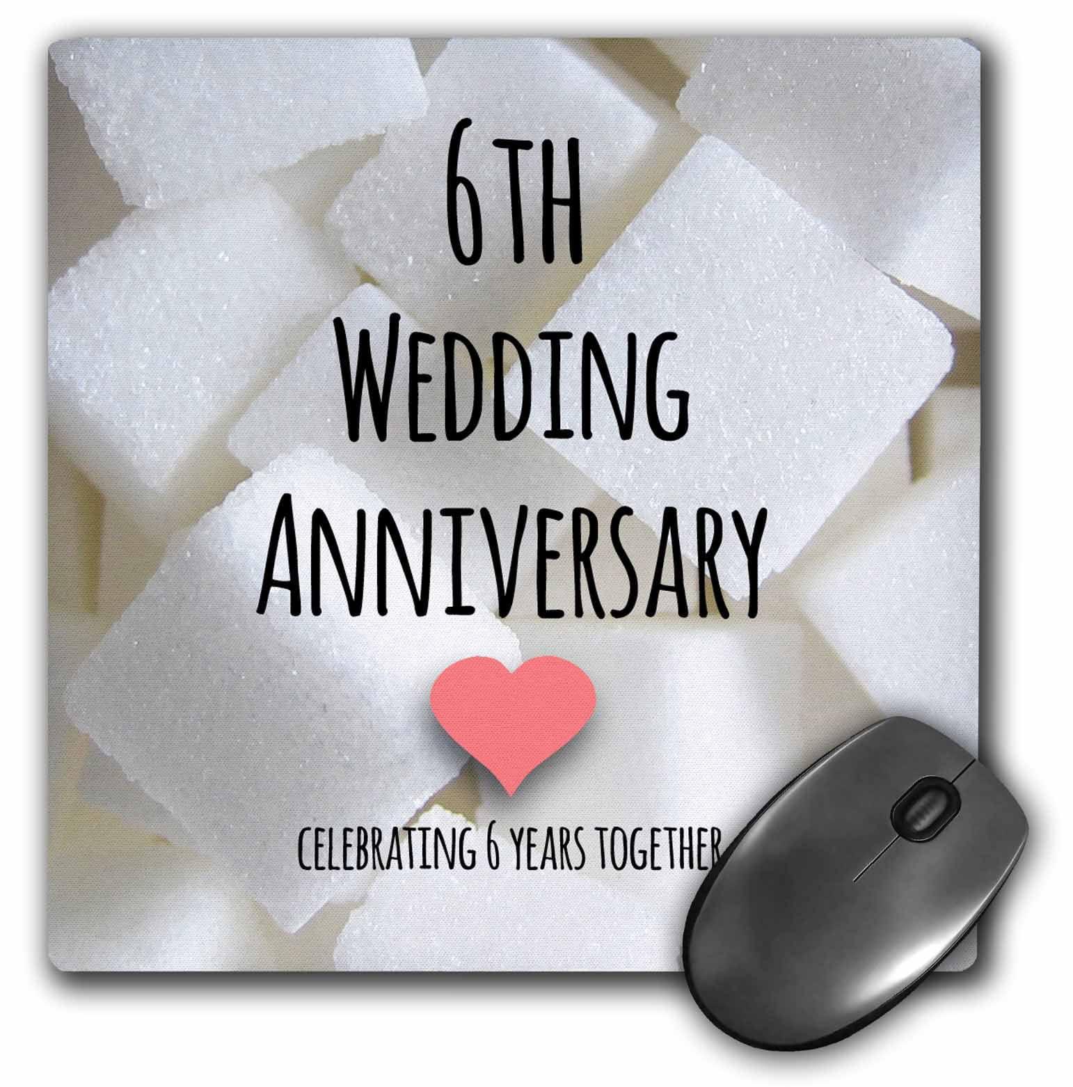 6 Yr Wedding Anniversary Gifts: 3dRose 6th Wedding Anniversary Gift