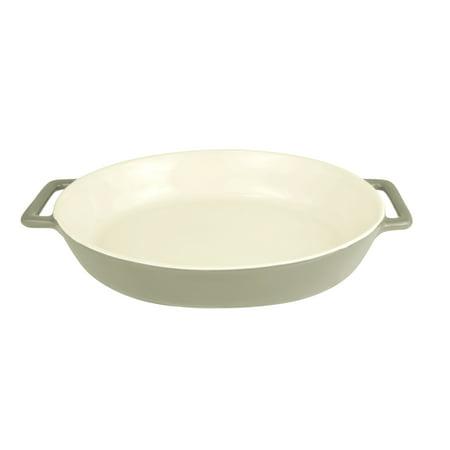 Le Regalo Oval Non-Stick Stoneware Baking Dish with Handles - 14
