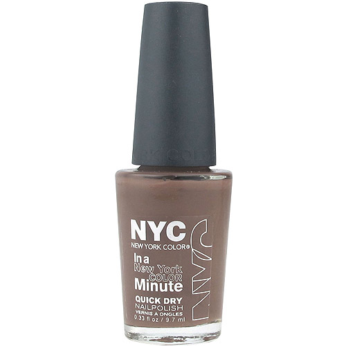 NYC New York Color In a New York Color Minute Quick Dry Nail Polish, Brownstone, 0.33 fl oz