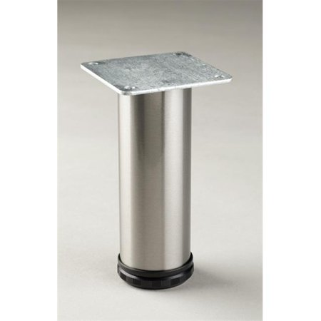 HD PMI552 20 ST Como Adjustable Cabinet Legs Brushed Steel 8 to 9 in