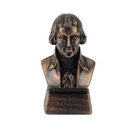 Metal President Thomas Jefferson Bust Collectible Die Cast Desk Pencil Sharpener