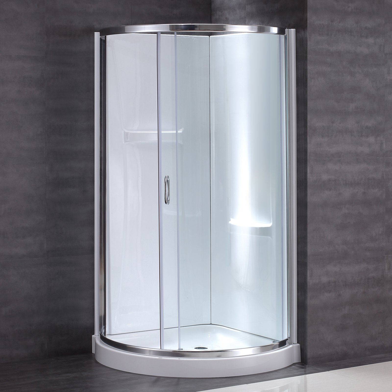 OVE Decors Breeze Shower Kit with Wall and Base