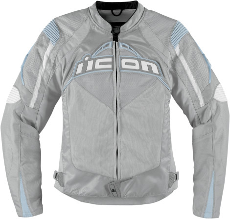 Icon Contra Womens Textile Jacket Silver