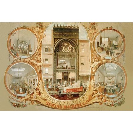 Grover & Banker Sewing Machine Co- Fine Art Canvas Print (20