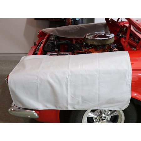 100% Cotton Soft Grey Fender Cover 33