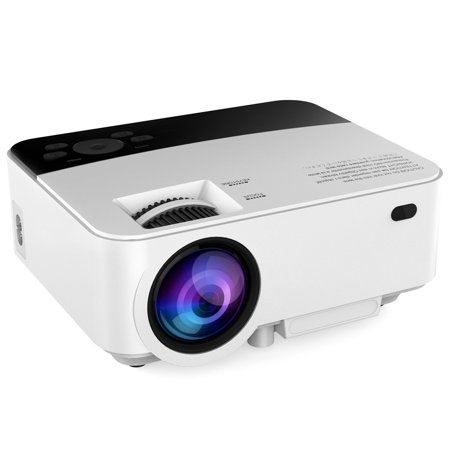 abdtech mini portable home projector with 1500 led luminous