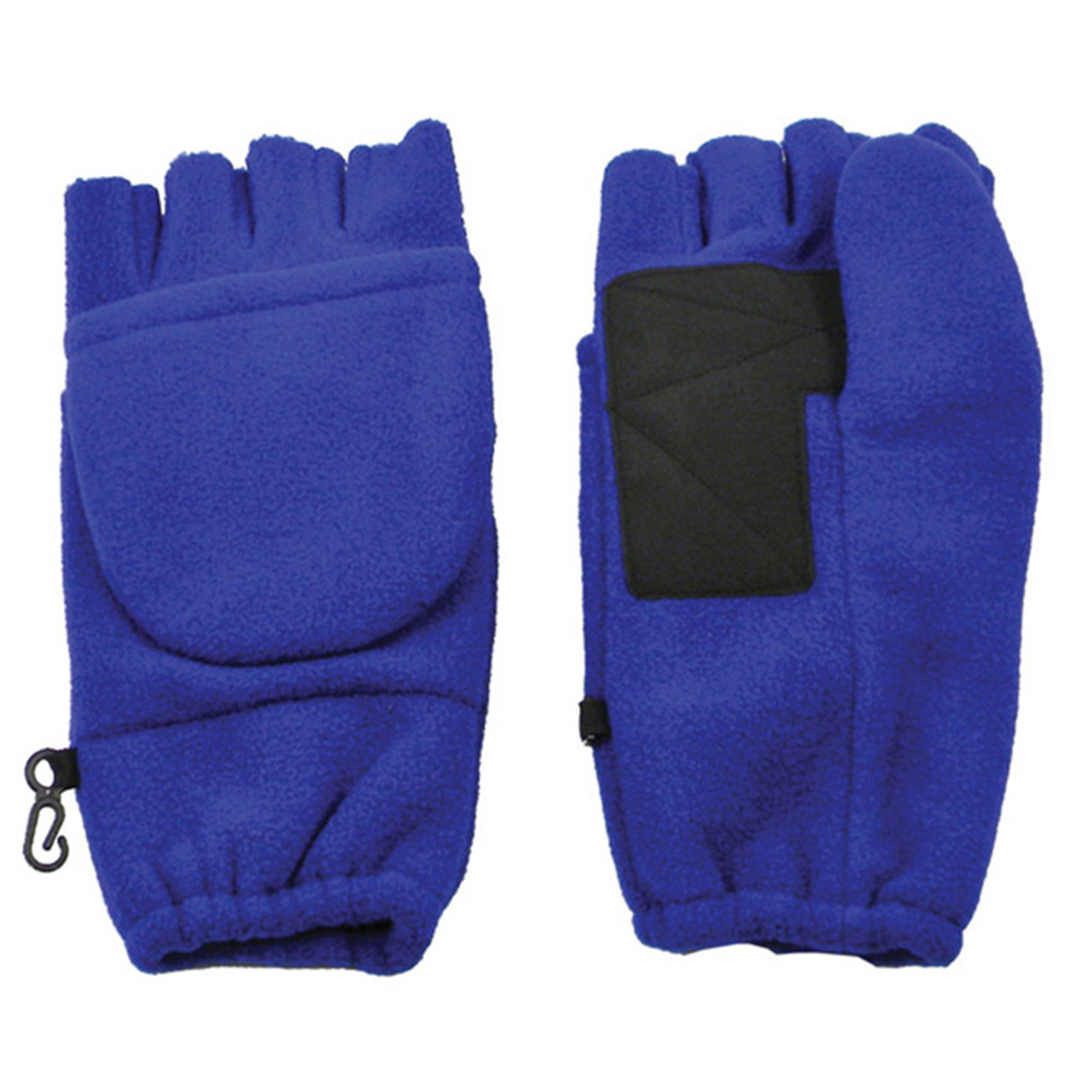 Winter Fingerless Gloves with Flap Cover Mitten Gloves, 194_Royal