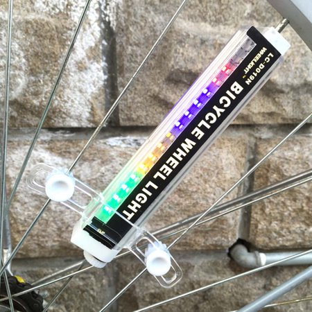 16 Colorful LED Lights 42 Patterns Water Resistant Bicycle Bike Cycling Wheel Spoke Light Lamp - image 1 of 1