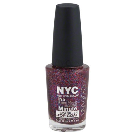 New York Color in a New York Color Minute Sparkle Top Coat, Big City ...