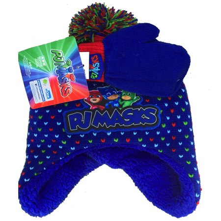 Nickelodeon PJ Masks - PJ Masks Toddler Boys  Knit Hat and Mitten ... c9b8119e391