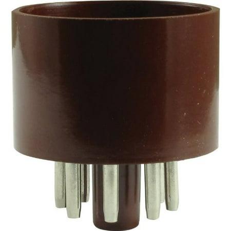 8 Pin Octal Base - Tube Base - 8 Pin, Octal, Brown By AmplifiedParts