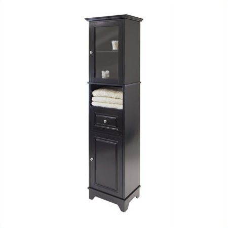 winsome alps black tall bathroom cabinet - Bathroom Storage Cabinets Walmart