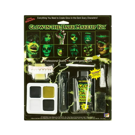 Glow In The Dark Halloween Makeup Kit (Easy Halloween Cat Makeup Ideas)