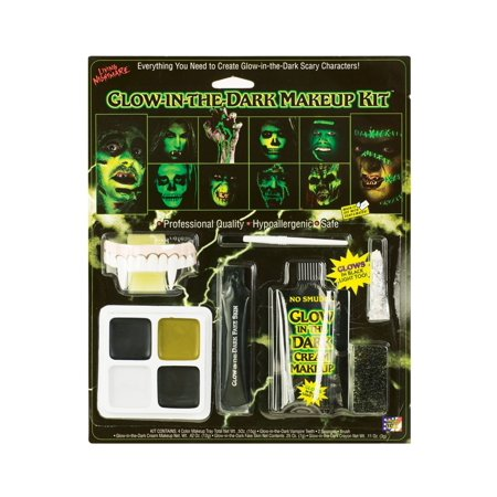Glow In The Dark Halloween Makeup Kit - Dramatic Makeup For Halloween