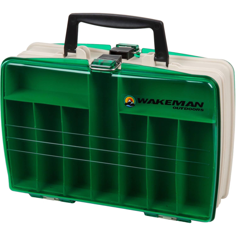 "Wakeman Fishing 2-Sided Tackle Box, 12"" x 9"" x 4"" by Trademark Global LLC"
