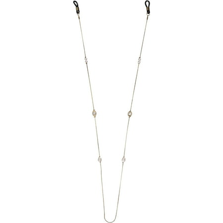 South Beach Ltd. Gold Eyeglass Chain, Pearls