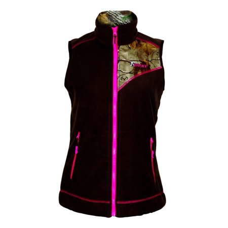 rocky western vest womens quality full zip warm fleece lw00136