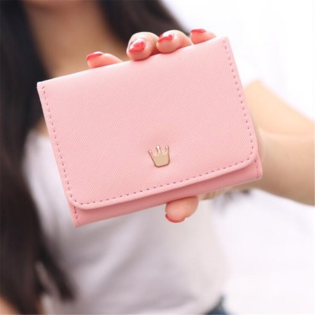 Meigar Women Lady Crown Short Mini Money Wallet Fold Bag Coin Purse Card Holder Wallets ()