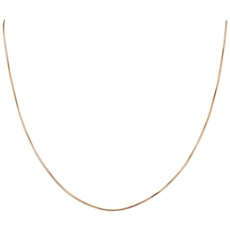 Amber Stone Jewelry (Gem Avenue 14k Rose Gold over Italian 925 Sterling Silver 1mm Snake Chain Diamond-Cut Vermeil)