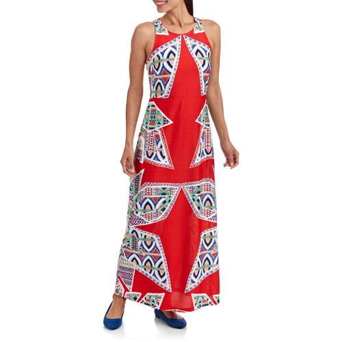 Stitch Women's Printed Column Maxi Dress