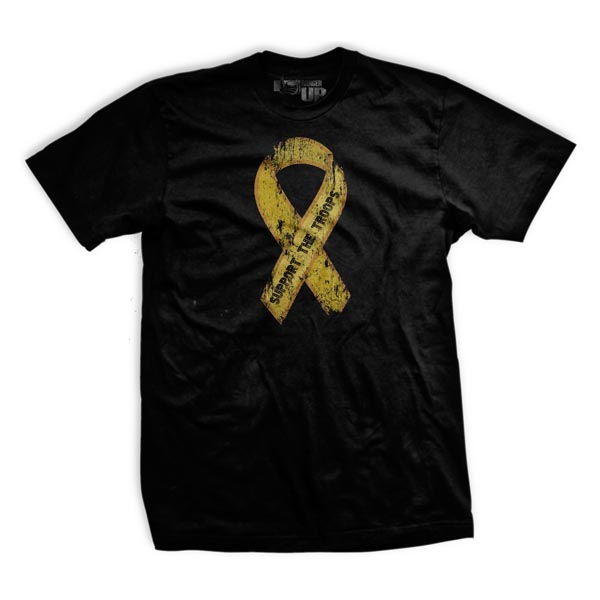 Ranger Up Veteran Support the Troops T-Shirt - Black