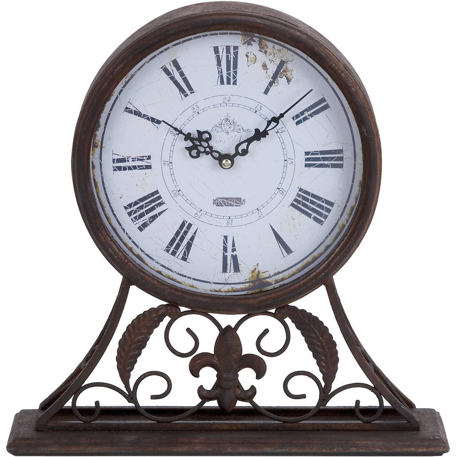 Decmode Metal Table Clock, Multi Color by DecMode