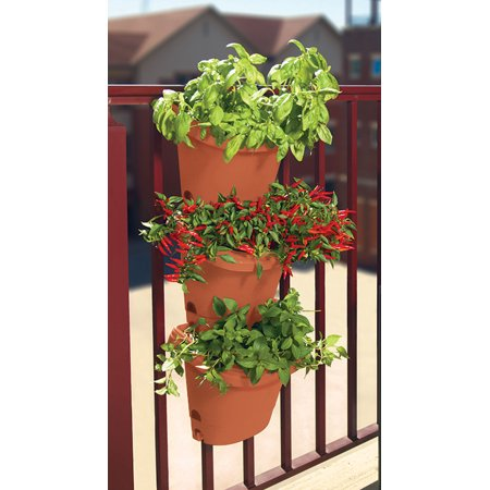 Hanging Strawberry Planter - Bloem Hanging Garden Planter System 3 Pack Terra Cotta