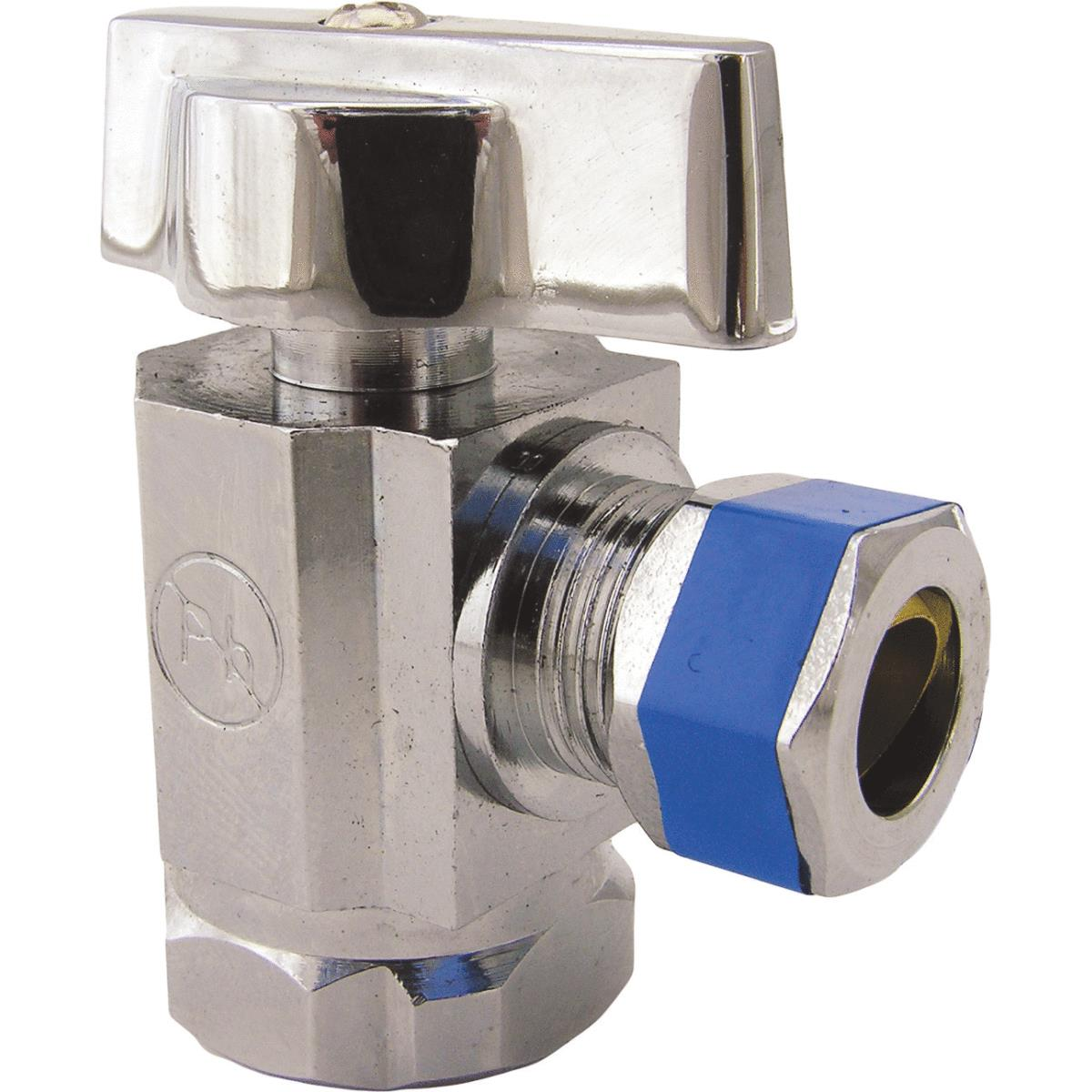 Lasco Iron Pipe Inlet X Comp Outlet Quarter Turn Angle Stop Valve