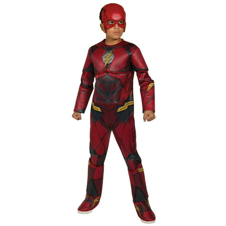 Boys Justice League Deluxe Flash Costume - Flash Costumes For Adults